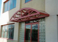 Custom Metal Canopy, Business Outdoor Advertising